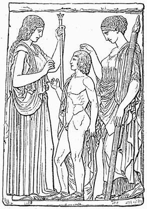 Demeter, Triptolemus, and Persephone