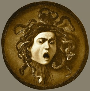 Medusa as imagined by the artist Carvaggio