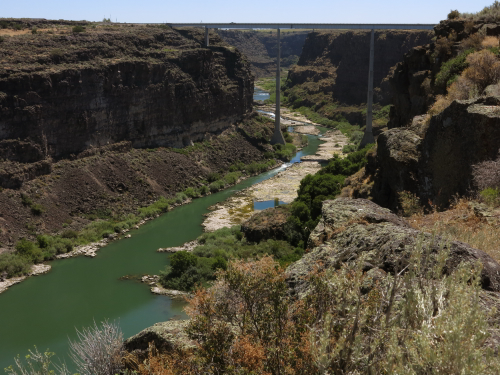 Hansen Bridge over the Snake River, near Twin Falls, Idaho