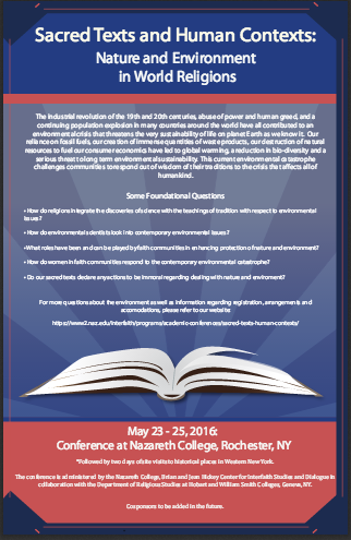 Sacred Texts and Human Contexts conference poster