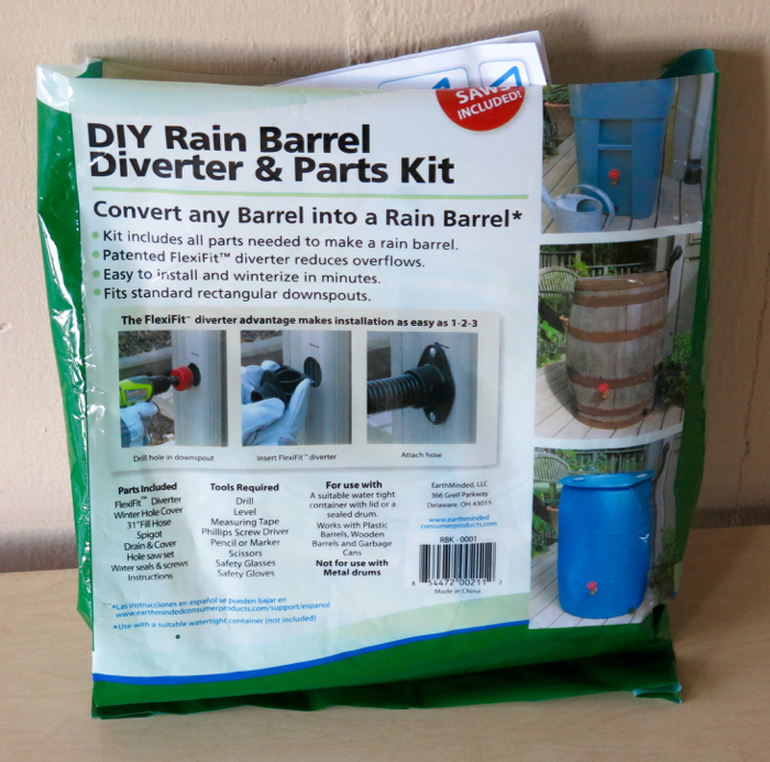 DIY Rain Barrel Diverter and Parts Kit
